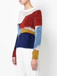 Rosetta Getty пуловер с нашивками из шенилла
