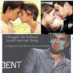 bahaha poor Tobias, Tris dumped him for her brother (Divergent/The Fault in Our Stars)