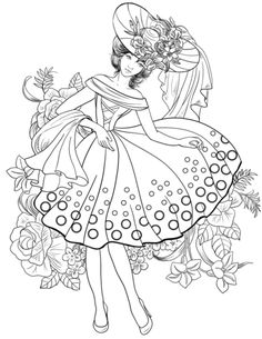 Fashion Coloring Pages For Adults# 2246597 Fairy Coloring Pages, Free Adult Coloring Pages, Coloring Pages For Girls, Animal Coloring Pages, Free Printable Coloring Pages, Coloring Sheets, Coloring Books, Free Coloring, Kids Coloring