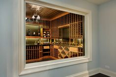 Clean Lined Transitional Home transitional wine cellar