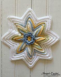 Picture of Scrap Potholders and Mats Set Crochet Pattern