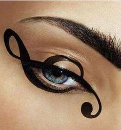 Trucco occhi Carnevale note musicali