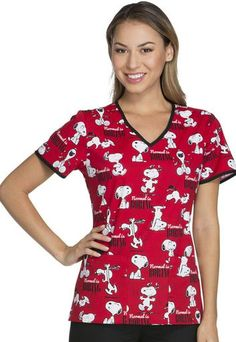 Snoopy - Normal is Boring Scrub Top For Women Cute Nursing Scrubs, Vet Tech Scrubs, Cute Scrubs, Medical Scrubs, Nursing Clothes, Disney Scrubs, Stylish Scrubs, Cream T Shirts, Cherokee Scrubs