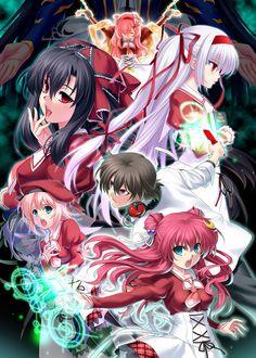 Tags: Anime, Prisoner, 11eyes, Momono Shiori, Natsuki Kaori, Kouno Mio, Azuma Shione