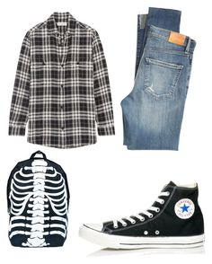 """""""It's something"""" by captain-chan ❤ liked on Polyvore featuring Yves Saint Laurent, Citizens of Humanity, Converse and Comeco"""