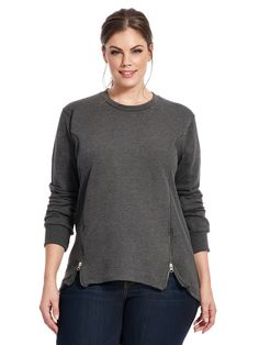 Corbelle Zip Sweater In Anchor Grey by @universalstand  Available in sizes XS-XL