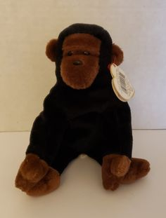 Ty Beanie Baby - Rare & Retired - Congo - with Swing Tag Errors by JCMNATURALREMEDIES on Etsy Father's Day Specials, Swing Tags, Colorful Socks, Ty Beanie, Congo, Cute Designs, Dinosaur Stuffed Animal, Plush, Baby