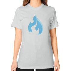 Raysfire Flame Unisex T-Shirt (on woman)