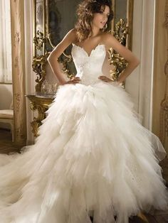 Image detail for -Puffy Elegant Wedding Dress - Styles Looks