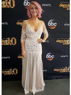 Julianne Hough's <em>DWTS</em> Photo Diary: Pink Hair Was Perfect for Disney Week! http://stylenews.peoplestylewatch.com/2015/04/14/julianne-hough-dwts-photo-diary-pink-hair-jenny-packham-dress/