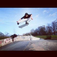 R1 rider Amir Williams -  Kickflip