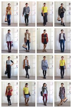 How To Create 30 Fall Outfits: Shop, Style and Mix-and-Match Your Fall Wardrobe via @stylebookapp