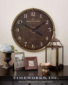 """Uttermost Hotel Du Vieux Quartier 30"""" Wall Clock 06044"""