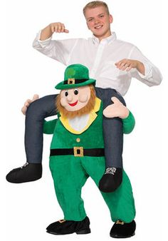 Ride on Leprechaun - Fancy Dress Costume from The Hen Party Store & More! This funny fancy dress costumes is guaranteed to make you stand out from the crowd at this years St Patricks Day celebrations! Funny Adult Costumes, St Patrick's Day Costumes, Costumes For Sale, Mascot Costumes, Halloween Costumes, Baby Costumes, Costume Ideas, Leprechaun Costume, Costumes