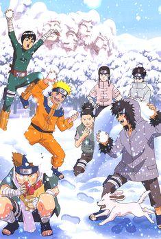 sasukeok winter in konoha - Naruto Christmas