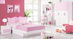 Bedroom Decor Fluffy White Carpet With Storage Corner Cabinet With Chair Also White Floor Tiles And Storage Cabinet With Lamp Besides White Curtain With Design  Pink Wall Decor  Cupboard Pink And White  Comfortable Chair Ideas   Organizing Kids Bedroom Sets