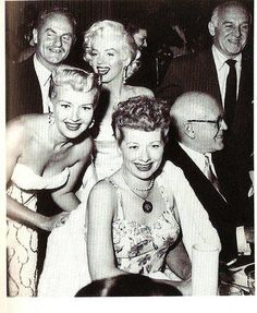 Rare picture of Lucille Ball with Marilyn Monroe and Betty Grable