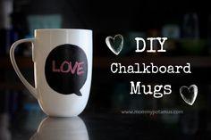 DIY Chalkboard Mugs – MommypotamusMommypotamus |