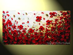 Poppies with knife