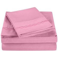 Simple Luxury Heritage 3000 Series Microfiber Sheet Set Size: California King, Color: Pink