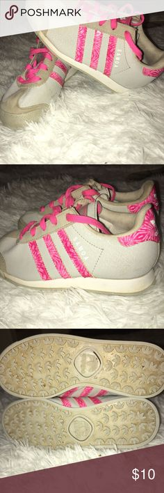 9dfcde208a95 Shop Kids  adidas Gray Pink size Sneakers at a discounted price at Poshmark.