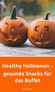 Healthy Halloween – gesunde Snacks für das Buffet   eatsmarter.de #halloween #snacks #party Halloween Tipps, Halloween Snacks, Happy Halloween, Halloween Buffet, Midnight Snacks, Eat Smarter, Pumpkin Carving, Snacks Party, Vegetables