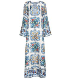 Dolce & Gabbana - Printed silk dress - Inspired by traditional Sicilian ceramics, this Dolce & Gabbana dress channels a classic mood. Cut from smooth silk, it wears with enduring comfort and moves with elevated grace. Work yours with slip-on sandals on your next summer getaway. seen @ www.mytheresa.com