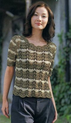 Lots of crochet tops (with diagrams!)