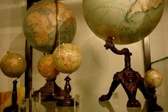 Globes, globes and more globes.