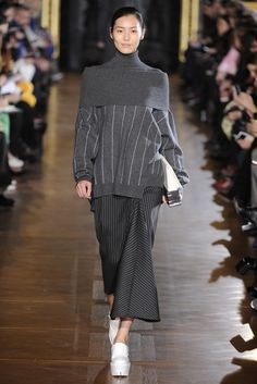 Like the pin strips and shawl/turtleneck/cowl   Stella McCartney RTW Fall 2013