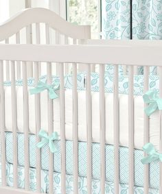 Look at this Carousel Designs Aqua Bird Crib Bumper on #zulily today!