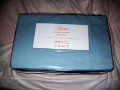 Less than 2 hours! Pratesi 4 PC Sheet Set Queen NWT 300 TC Sky Blue  Made in Italy Pratesi Monogram #Pratesi