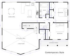 [ Example Created With Smartdraw Blueprint Software Draw House Plan How  Floor Plans Build Your Own Make ]   Best Free Home Design Idea U0026 Inspiration