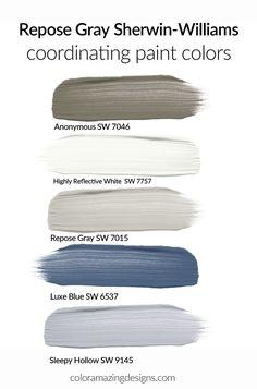 Coordinating Paint Colors, Blue Paint Colors, Paint Color Schemes, Living Room Color Schemes, Interior Paint Colors, Paint Colors For Home, Living Room Grey, Room Colors, House Colors