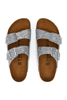 df331c2882cf Opening Ceremony Oc Glitter Arizona Sandal - Silver Eu 42 Socks For Flats