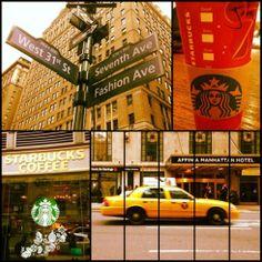 Midtown – Starbucks and the City Starbucks, New York City, Live, New York