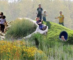Grass slopes / tunnels / slides / rocky climbing - this has it all. I WANT