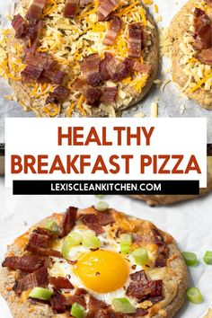 Don't just save pizza for dinner–it's perfect for breakfast too! This Breakfast Pizza is totally customizable but we think it should definitely include eggs, bacon, and cheese, also known as the breakfast classics! These individual breakfast pizzas are gluten and grain-free, and easily made Paleo and Whole30-friendly. Make Ahead Breakfast Casserole, Breakfast Meat, Mexican Breakfast Recipes, Whole 30 Breakfast, Brunch Recipes, Breakfast Sandwiches, Breakfast Bowls, Kitchen Recipes, Paleo Recipes