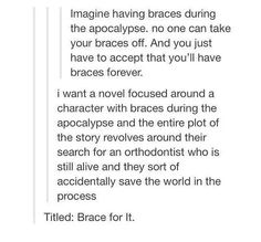 Omg yaaaassssss!!!!!!! It can be an addition to the 5th wave....*cough cough* Rock Yancey *cough cough*