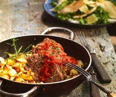 Γεμιστό ρολό κιμά με γλάσο ντομάτας   Συνταγή   Argiro.gr Paella, Ethnic Recipes, Food, Essen, Meals, Yemek, Eten