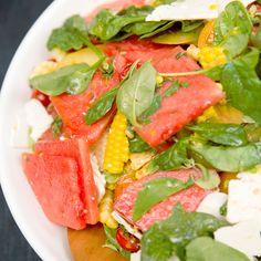 Watermelon, Corn, and Tomato Salad | MyRecipes