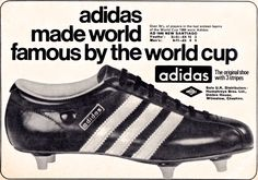 Adidas Santiago, my first pair of proper football boots which I bought on a school holiday to Dinard in France when I was 12 or 13.