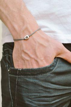 Hey, I found this really awesome Etsy listing at https://www.etsy.com/listing/232135006/mens-bracelet-gray-cord-bracelet-for-men