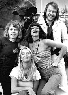 ABBA Posing in Holland 1976
