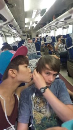 Me and corbon on the train to yogyakarta. You can see that corbon loves me☺