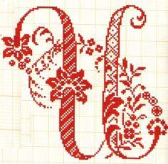 U - Filomena Crochet e Outros Lavores: - Monogramas e alfabeto