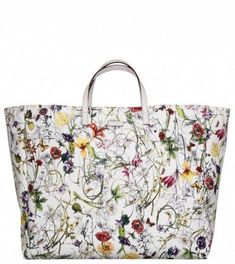 57e5673fc Gucci Large Print Flora Print Canvas Shopper from Profile Fashion  #Guccihandbags Bolsas De Grife Outlet