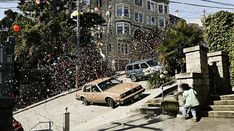 There was a commercial of this a few years back, and here are some amazing still shots of bouncy balls rolling and bouncing down the streets of San Francisco. #sanfrancisco