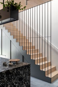 Harry And Viv& House By Ha Architecture The Fisher & Paykel Series The Local Project Image 16 Staircase Design Modern, Stair Railing Design, Home Stairs Design, Interior Stairs, Home Interior Design, House Design, House Staircase, Entry Stairs, Staircase Railings