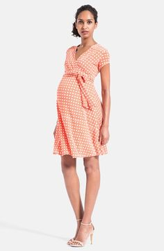 Leota Cap Sleeve Faux Wrap Maternity Dress available at #Nordstrom